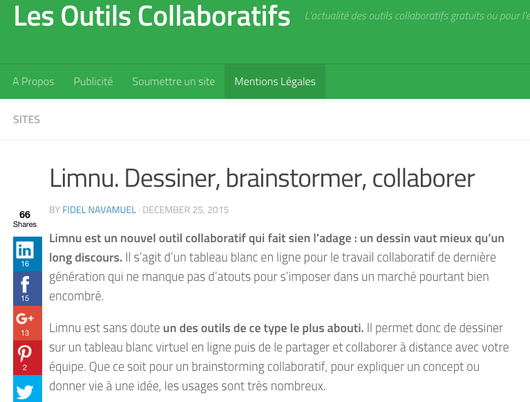 French site Les Outils Collaboratifs and Limnu